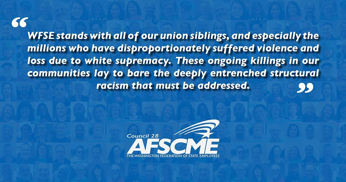 WFSE Condemns Racism